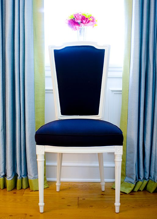 Navy And White Chair