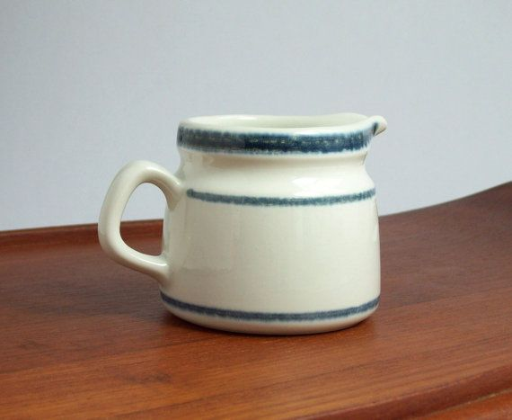 Vintage Rörstrand Fjord Cream Pitcher by Eight Mile Vintage on Etsy