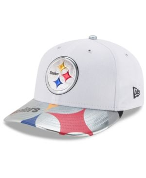 New Era Pittsburgh Steelers Low Profile 2017 Draft 59FIFTY Cap - White/Silver 7 3/8