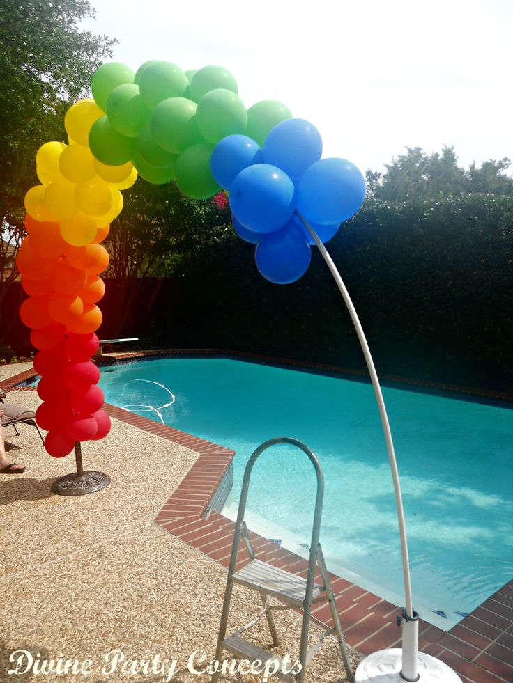 Making a balloon arch events pinterest arches for Balloon arch no helium