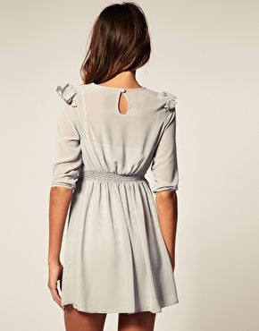 Mini Dress with Frill Detail ++ asos
