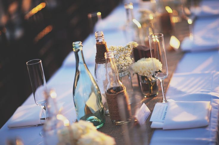 Pure Lavish Events | Coastal wedding | Orange County | Blue wedding | Blue and White | Copro Studios | Flowers by Mae Mae | Mixed Bottles | Centerpieces | Babies Breath