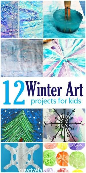 12 of the Best Winter Art Projects for Kids. by noreen