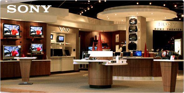 Sony store interior