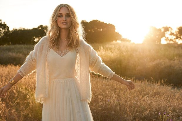 An effortless boho wedding dress collection from Rembo Styling complete with cosy cashmere and mohair pieces.