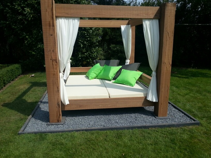 My outdoor canopy bed