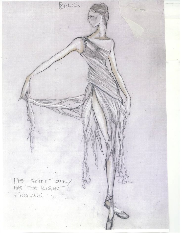 Costume sketch by Anne Armit for Twyla Tharp's The Princess and the Goblin