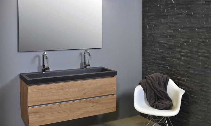 INK badkamermeubelen 40 DOCK greeploos alu keerlijst keerlijst - dock - hout - greeploos - quartz - badkamer - wastafel - ink - spiegelkast - badjas - sanibell - badmeubel - badkamermeubel