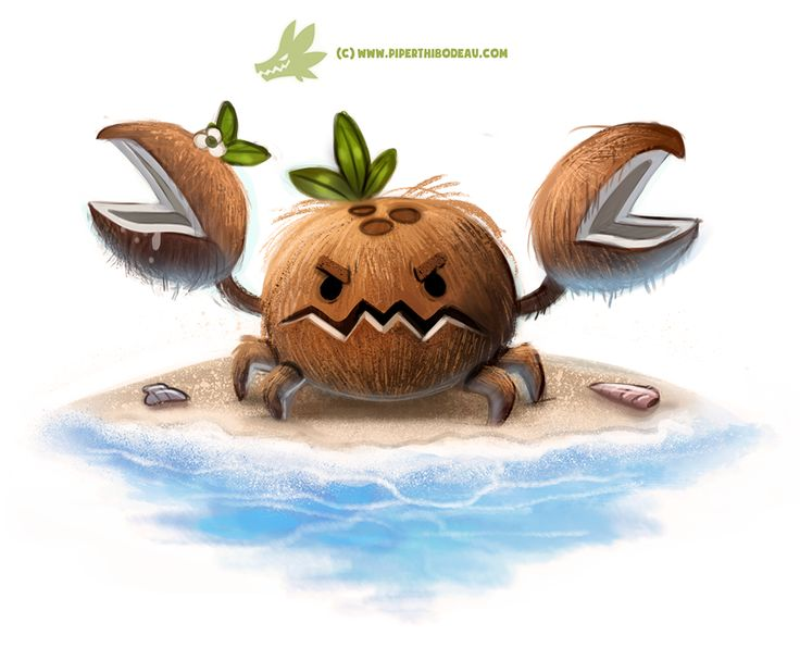 Daily Paint #1275. Coconut Crab by Cryptid-Creations on DeviantArt