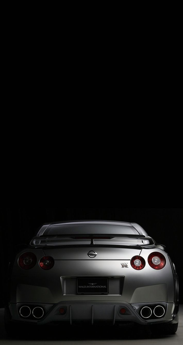 The amazing looking back end of the nissan gt r