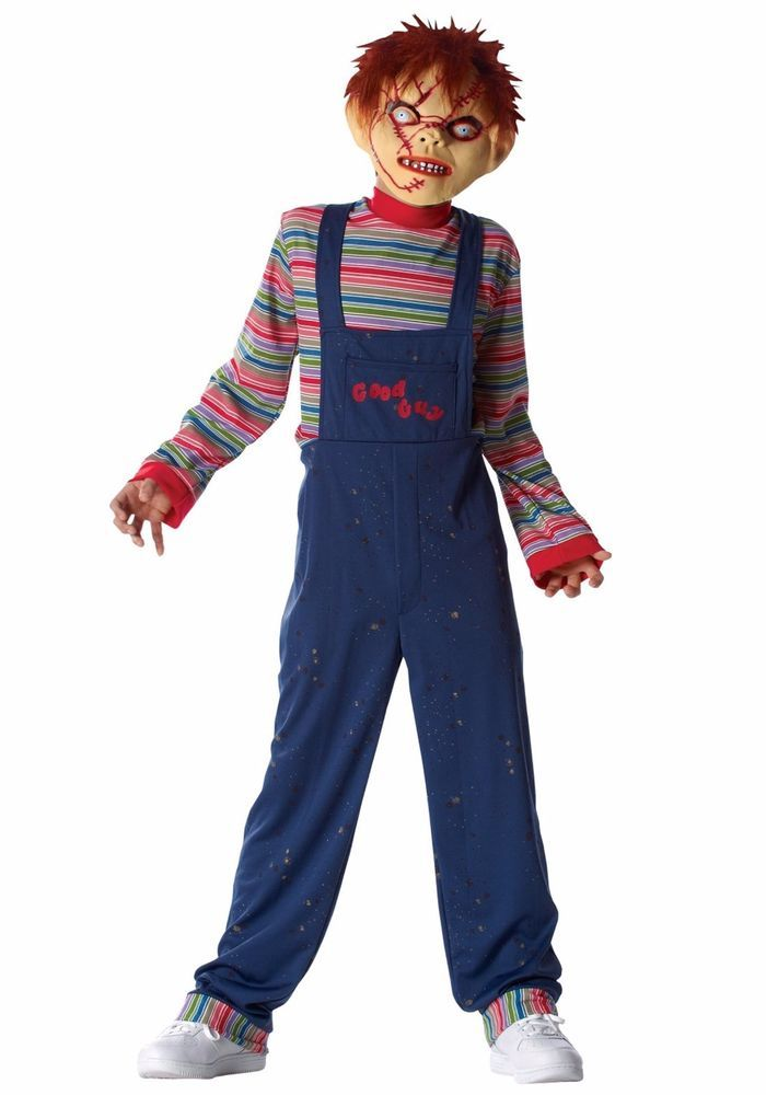SCARY KIDS CHUCKY DRESS HALLOWEN COSTUME ON CLEARANCE WITH FREE DELIVERY #CostumeCulture