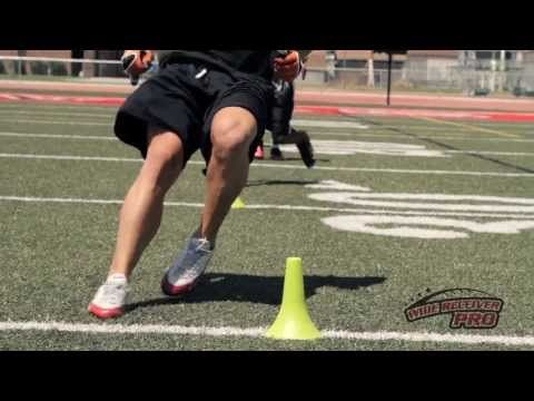 Wide Receiver Drills- Quick Feet Explosion Drill (Circle the Cones Drill) - Wide Receiver Pro DVD - YouTube