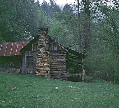 Abandoned cabin in Madison County, NC