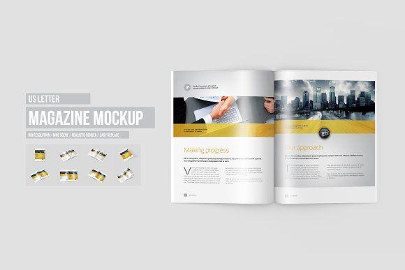 US Letter Magazine / Brochure Mockup by ToaSin on @creativemarket