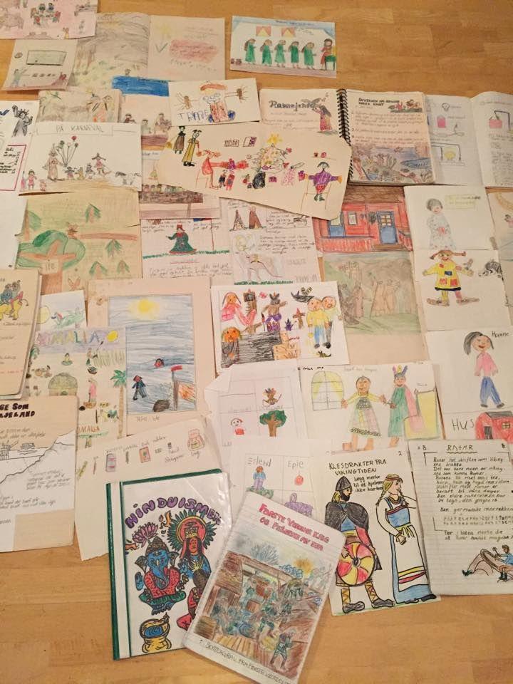 Drawigs from very early childhood/Schoolbooks (Visual-Spatial/Intrapersonal? Garner´s MI)