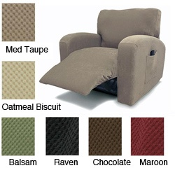 @Overstock - Give your recliner an instant makeover with one of these solid-colored stretch slipcovers. The stretch fabric fits even the most difficult furniture, and the side pocket gives you a convenient place to keep your remote control.http://www.overstock.com/Home-Garden/Recliner-Chair-Stretch-Slipcover/5195934/product.html?CID=214117 $67.99