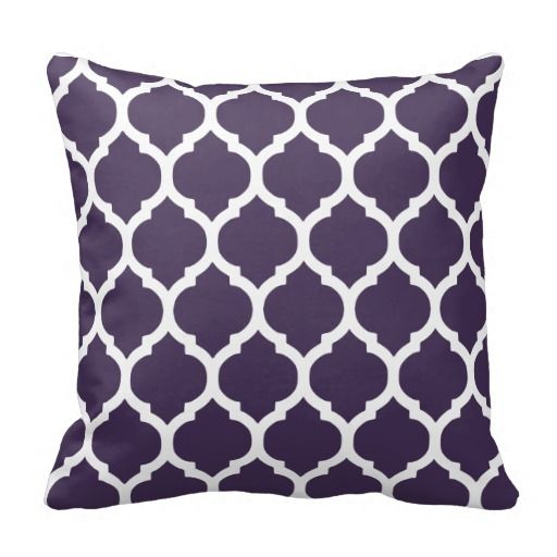 Purple & White Moroccan Lattice Throw Pillows In our offer link above you will seeDeals          Purple & White Moroccan Lattice Throw Pillows Here a great deal...