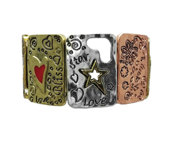 Bliss Mixed Metal Bracelet. What a fun piece! #kkd #jewelry www.keeleykendall.com/#cararolinson