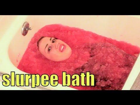 SLURPEE BATH! Please subscribe to miranda sings! She is so funny