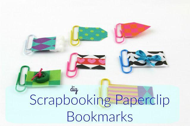 Diy Scrapbooking Paperclip Bookmarks!!!