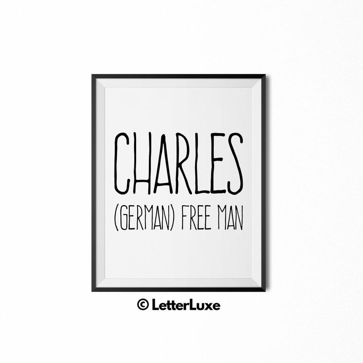 Charles Name Meaning Print - Nursery Decor                      – LetterLuxe