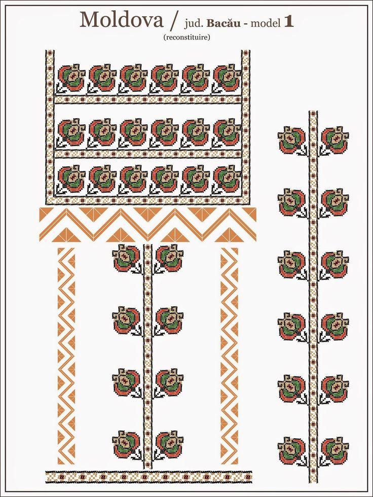 Romanian traditional blouse - MOLDOVA region, Bacau county