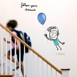 Autocolant Follow your dreams - boy