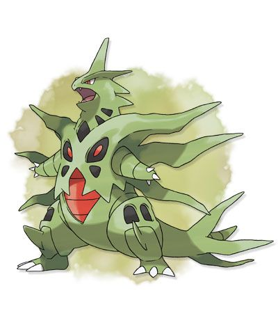 MEGA TYRANITAR. Type: ROCK/DARK. Ability: Sand Stream. Mega Stone Location: Cyllage Gym - Postgame - Y Only.  #Pokemon #Nintendo