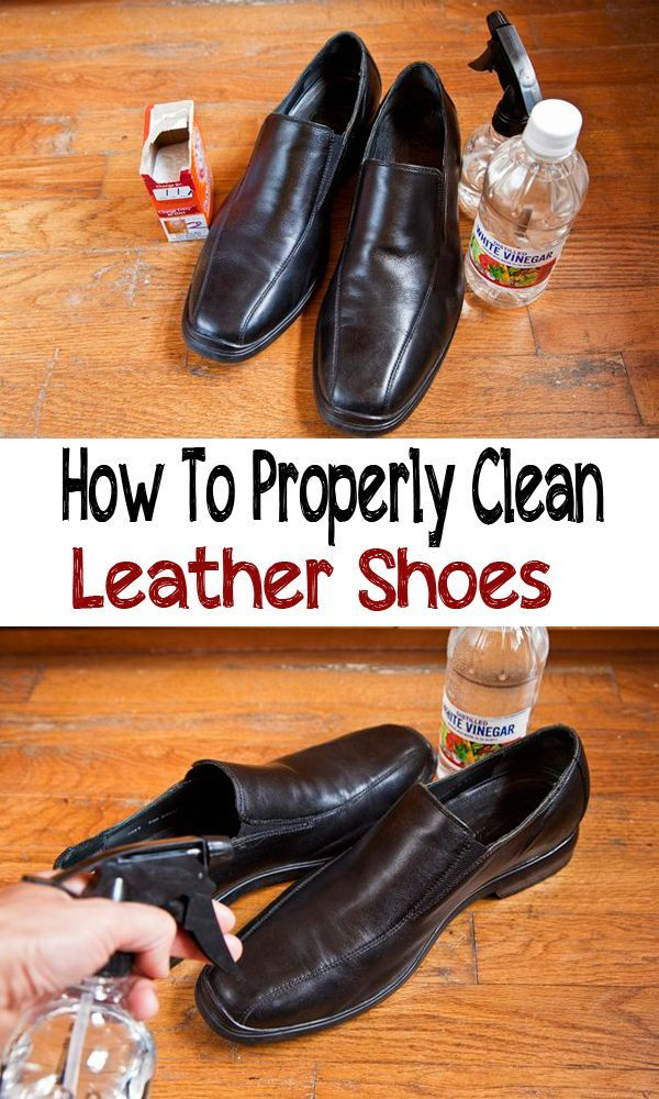 How to properly clean leather shoes