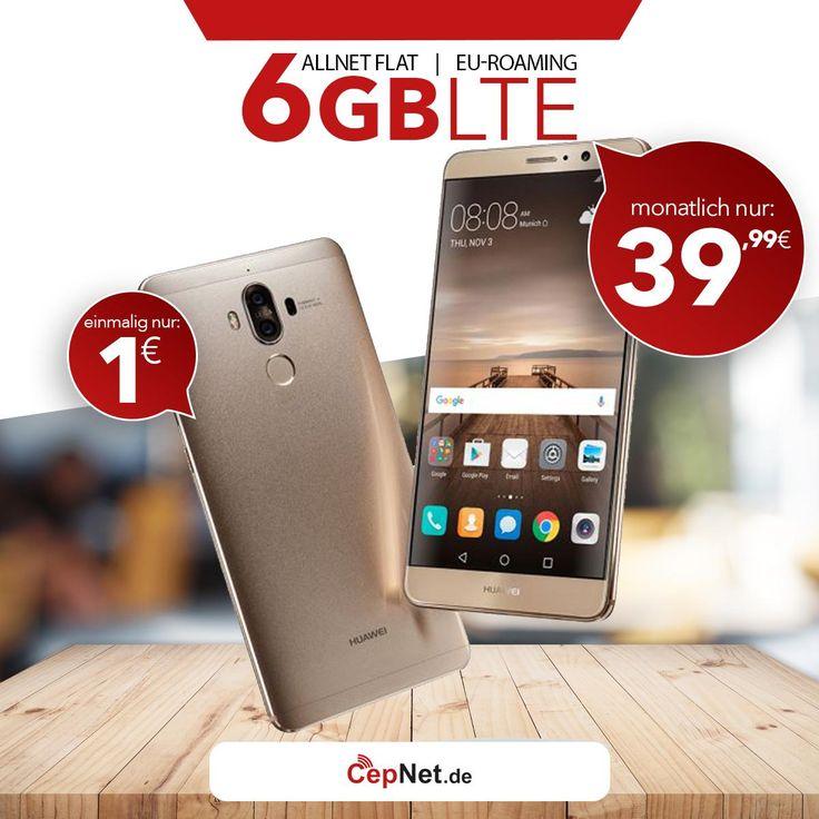🔥🔥🔥Huawei Mate 9 64GB mit günstigem ay yildiz Ay Allnet Max Vertrag  👉👉 https://www.cepnet.de/smartphones/huawei/mate-9/?utm_source=cepnet_sosyal&utm_medium=sosyal&utm_campaign=huawei    ✅Telefonie-Flat* in alle dt. Handy-Netze  ✅Telefonie-Flat* ins dt. Festnetz  ✅Telefonie-Flat* ins türkische Festnetz  ✅Internet-Flat* 6 GB mit bis zu 21,6 Mbit/s (danach Drosselung auf 56 kbit/s)  ✅EU Roaming Flat** EU-weit surfen & telefonieren    ➤Gerätepreis einmalig nur:1,00€ */**  ➤Tarif monatlich…