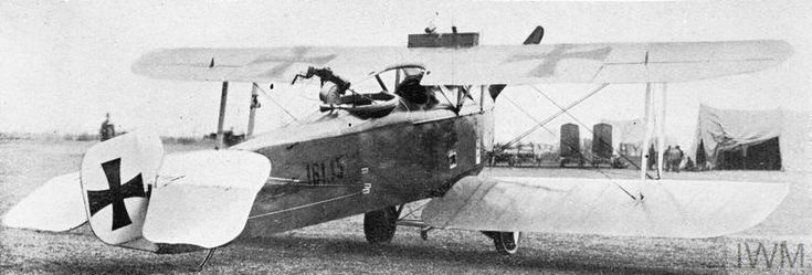 Hansa-Brandenburg C.I two-seat reconnaissance biplane, produced by Ufag. Serial number 181.15, in service of Austro-Hungarian Air Force. GERMAN AIRCRAFT OF THE FIRST WORLD WAR
