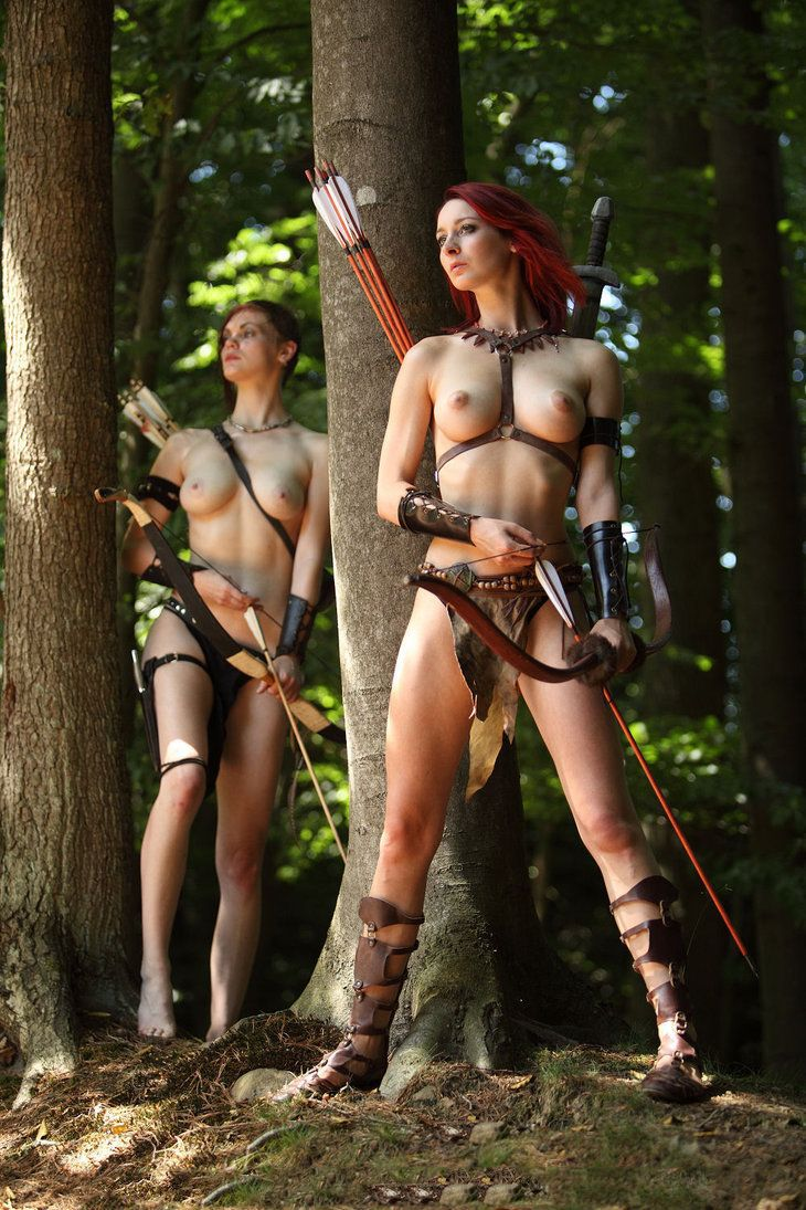 Warriors sexy naked female