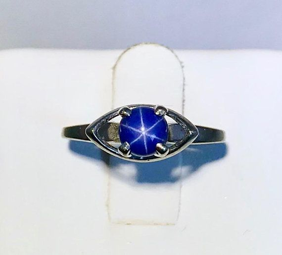 Natural Sapphire Ring 1 8 Ct Tw Diamonds 10k White Gold Natural Sapphire Rings White Gold Rings Natural Sapphire