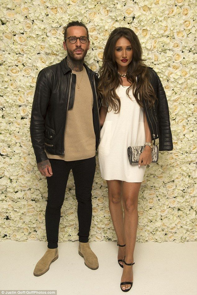 Happy couple: Peter Wicks and girlfriend Megan McKenna were spotted at Jessica Wright's shoe launch on Wednesday night, held at London's Vanilla nightclub