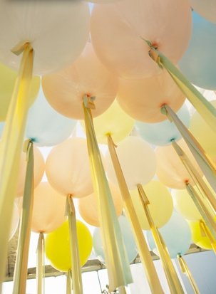 balloons decor elegant streamers from grey likes weddings