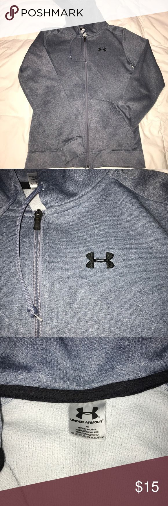 Under Armour Zip Up Hoodie This hoodie is such a go to staple in the fall and winter! Looks good under a leather jacket or just by itself. Definitely perfect for the gym too! Under Armour Tops Sweatshirts & Hoodies