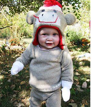 Sock Monkey Baby Halloween Costume