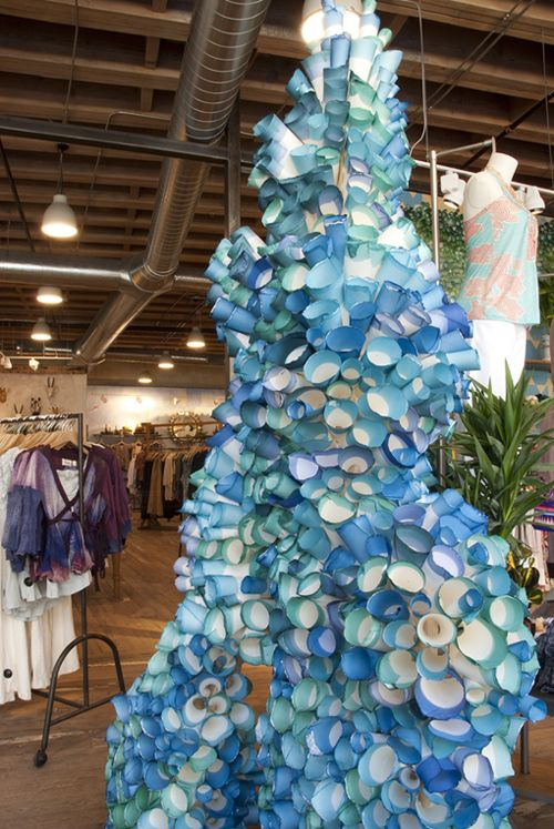Anthropologie display - rolled paper