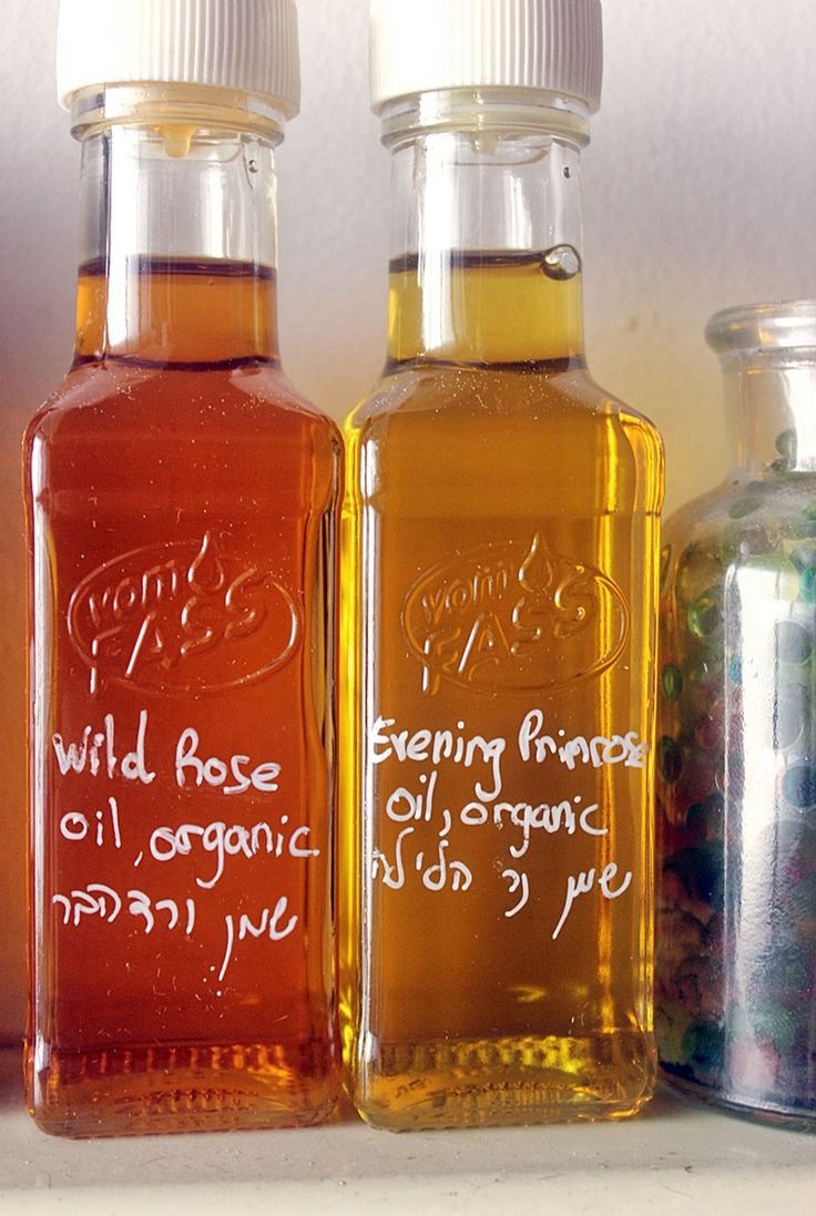 Organic wild Rose and evening primrose oils from  Vom Fass,Sarona Market