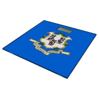 Bathroom Scale with flag of Connecticut USA - home gifts ideas decor special unique custom individual customized individualized