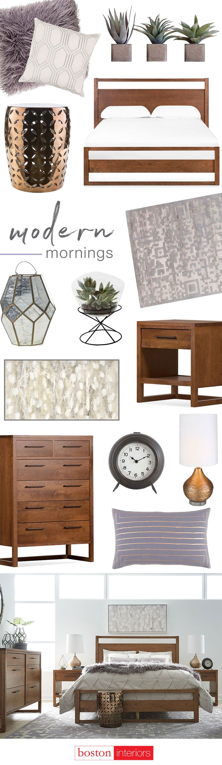 Metallic Accents Soft Textures And Clean Lines Make For A Modern Morning