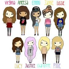 I love this image. Quiero ser lucy o lissie.