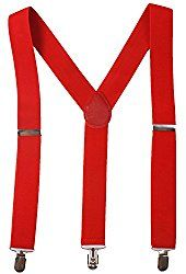 Strong Red Trouser Braces for Goonies Sloth Costume