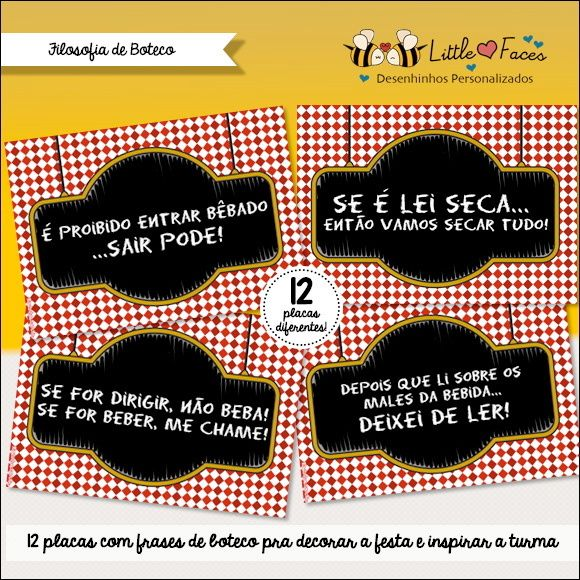Placas Decorativas Frases de Boteco