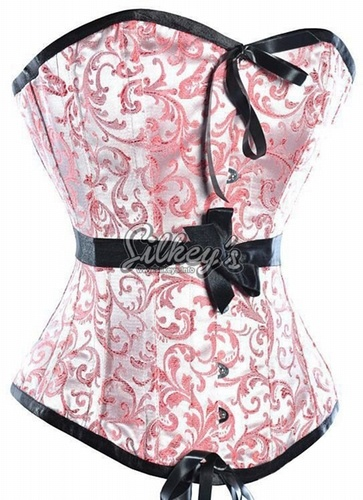 korset : figuurcorrectiemiddel om onder een jurk te dragen.gemaakt van leer en verstevigd met ijzeren baleinen,werd het van voor en achter strak aangetrokken
