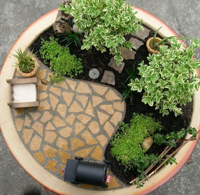 1000 ideen zu minig rten auf pinterest feengarten for Pflanzen deko innen