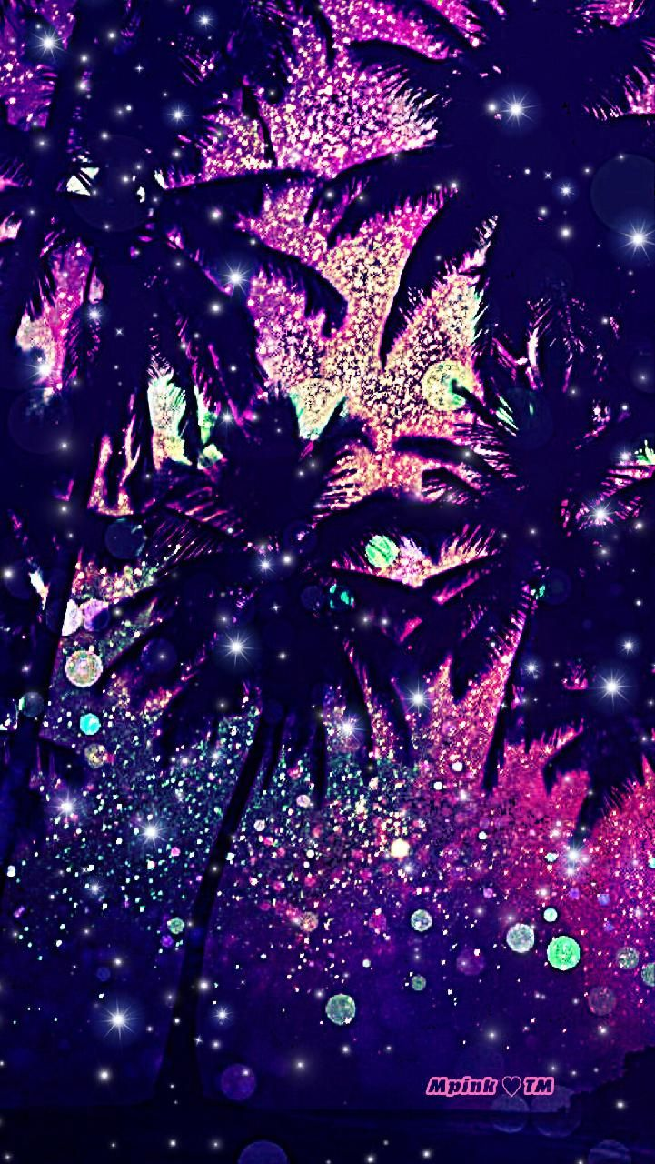 Tropical Midnight Galaxy Wallpaper Androidwallpaper Iphonewallpaper Wallpaper Galaxy Sparkle Gli Iphone Wallpaper Tumblr Photography Texture Art Projects