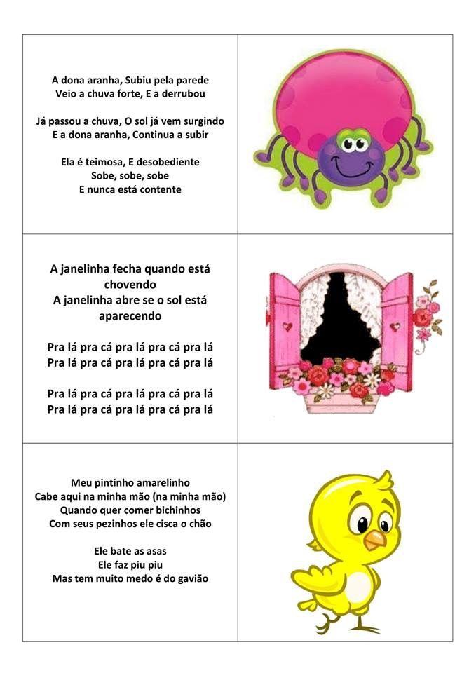 Pin De Patricia Gois Em Pra Escola Letras De Musicas Infantis