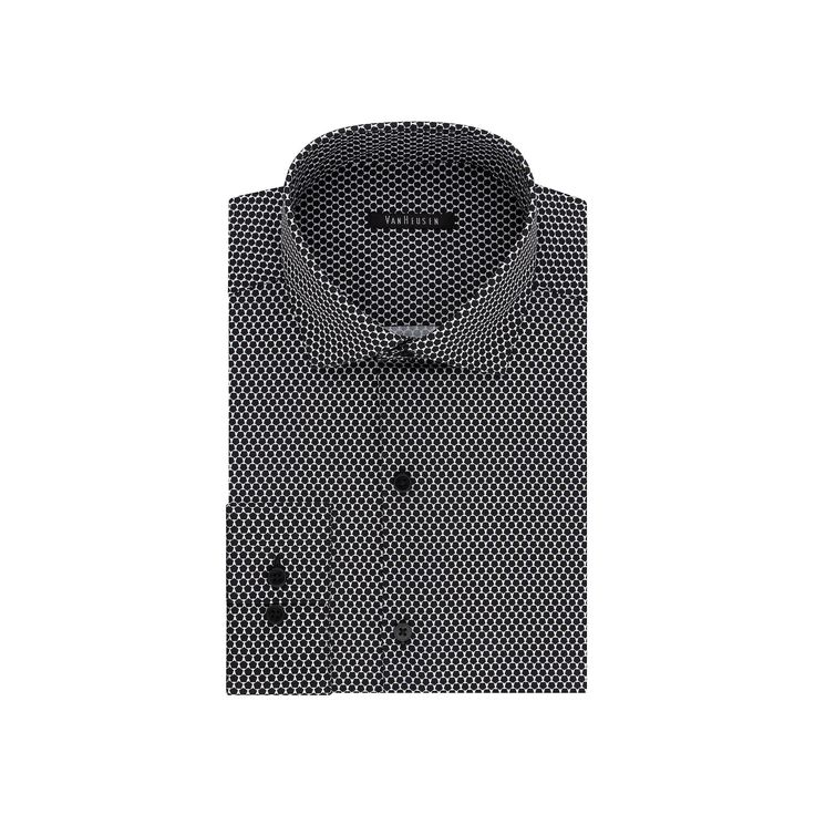 Big & Tall Van Heusen Flex Collar Slim Tall Dress Shirt, Men's, Size: 18.5 37-38, Dark Grey
