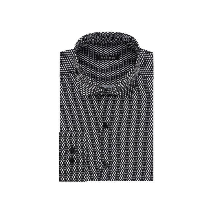 Big & Tall Van Heusen Flex Collar Slim Tall Dress Shirt, Men's, Size: 18.5 35-36, Dark Grey